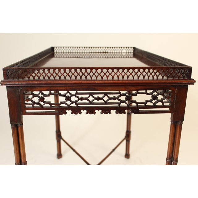 Chinese Chippendale Style Mahogany Tea Table For Sale In Los Angeles - Image 6 of 13