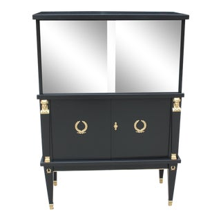 1920s French Empire Style Mahogany Dry Bar For Sale