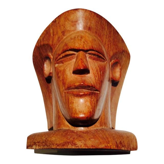 Vintage Fiji Vesi Wood Sculpted Bust For Sale