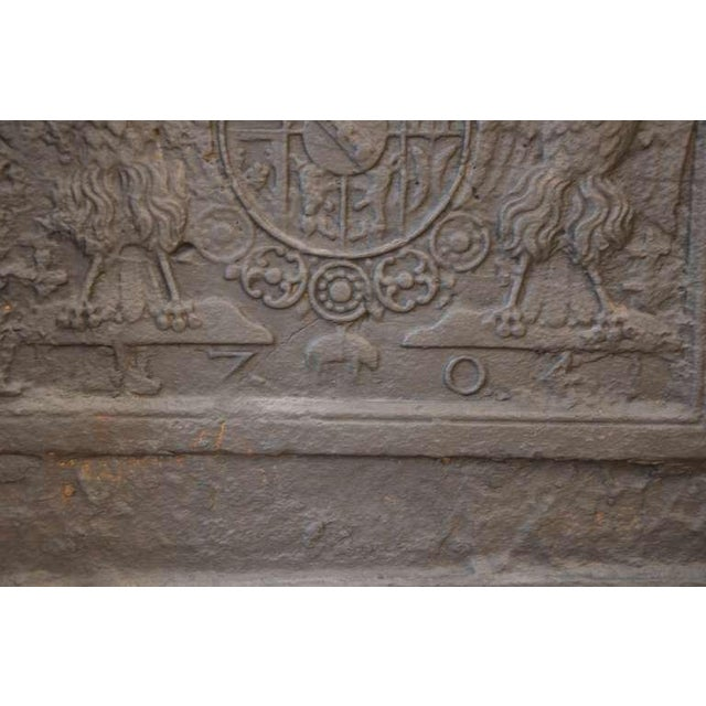 18th C. Large Fireback - Coat of Arms Lorraine from 1704 For Sale - Image 10 of 11