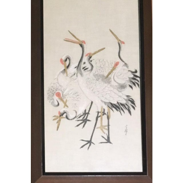 I wish I knew Japanese to read these inscriptions, because these beautiful images suggest poetry. Artfully painted on silk...