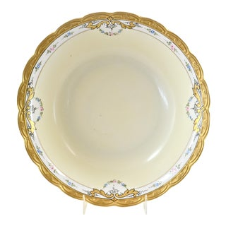 1920s Bavarian Gold Gilt Porcelain Bowl For Sale