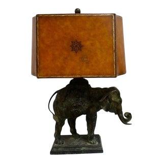 Antique 1920s Bronze Elephant Lamp