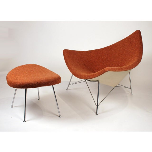 Museum Quality Early Coconut Chair & Ottoman by George Nelson for Herman Miller For Sale - Image 10 of 10