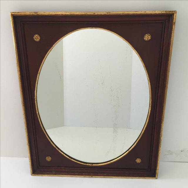 Antique Gilt Mahogany Oval Mirror - Image 2 of 4
