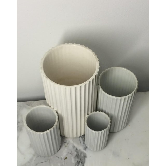Lyngby Porcelain 1960s Lyngby Porcelain Vases - Set of 4 For Sale - Image 4 of 5
