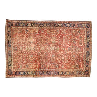 "Antique Mahal Carpet - 14'2"" x 21'10"" For Sale"