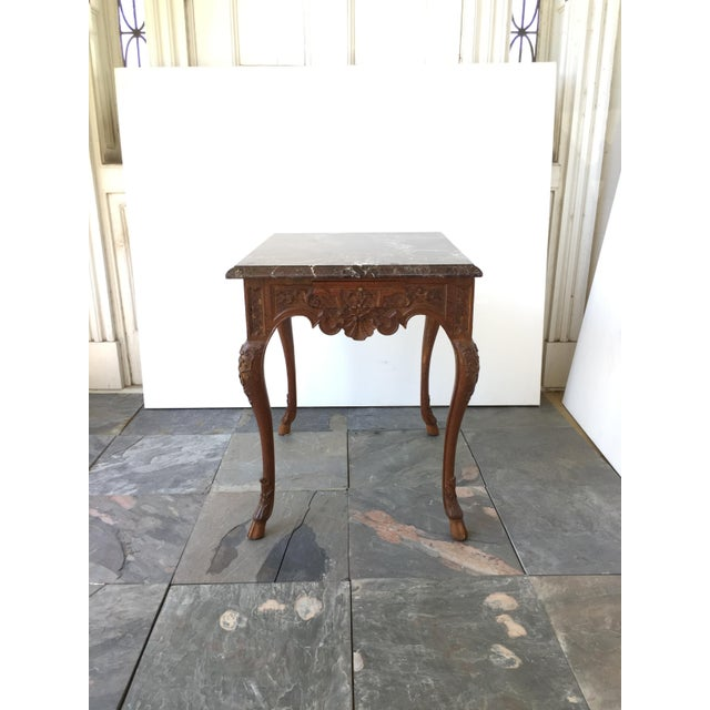 French Regency Style Marble Top Side Table - Image 3 of 5