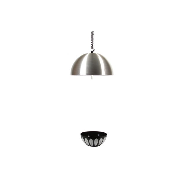 1970s Retractable Aluminum Ceiling Light - Image 2 of 6