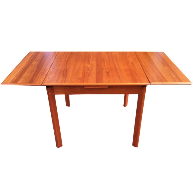 Danish Modern Drop-Leaf Dining Table - Image 1 of 7