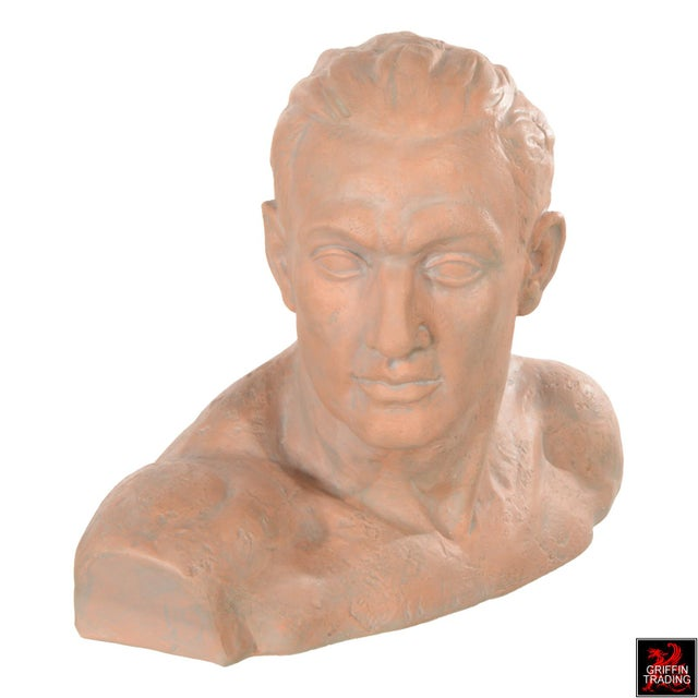 Terracotta Bust of a Man For Sale In Dallas - Image 6 of 10