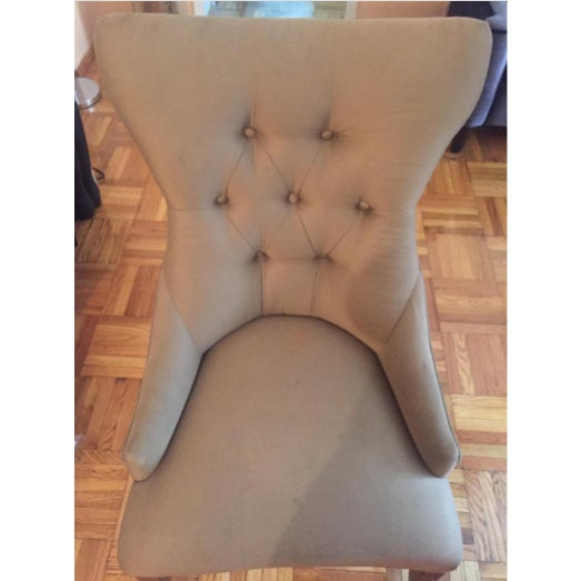 Bernhardt Tufted Dining Chairs - A Pair - Image 3 of 4