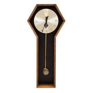 Vintage Mid Century Arthur Umanoff Pendulum Wall Clock For Sale