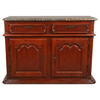 Louis XIV Sideboard with Fossil Stone Top For Sale