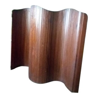 French Slatted Wood Room Divider For Sale