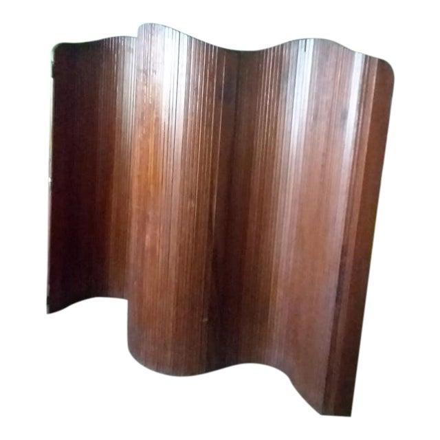 French Slatted Wood Room Divider For Sale