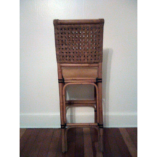 2010s Palecek Bamboo, Leather and Jute Barstools- Set of 3 For Sale - Image 5 of 9