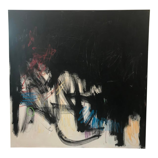 """Contemporary Abstract Painting """"Musings on the Situation"""" by Sarah Trundle For Sale"""