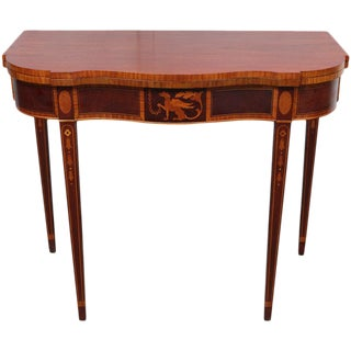 American Federal Style Mahogany Game Table For Sale