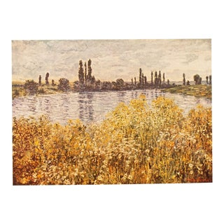 "1950s Claude Monet, First Edition Lithograph ""Banks of the Seine"" For Sale"