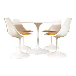 Mid-Century Saarinen Style Tulip Pedestal Dining Set - Set of 5