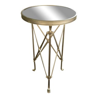 1990s Neoclassical Marble and Metal Gueridon Table For Sale