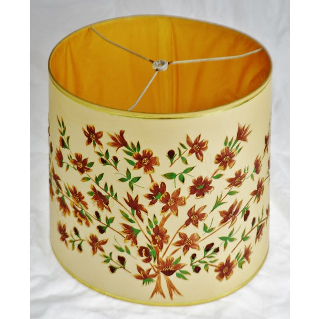 Vintage Floral Cut Out Drum Lampshade Condition consistent with age and history. Some discolorations throughout. Please...