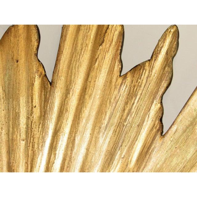 Spanish Spanish Gilt Wood Convex Sunburst Mirror For Sale - Image 3 of 9