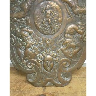 1900 Antique Renaissance Style Cast Iron Shield Preview