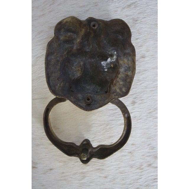 Vintage Brass Lion Door Knocker For Sale - Image 4 of 9 - Vintage Brass Lion Door Knocker Chairish