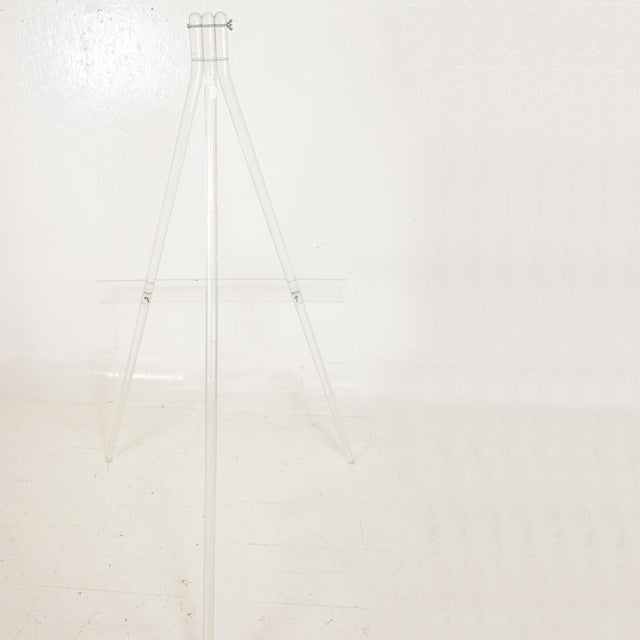 Plastic Mid-Century Modern Lucite Easel For Sale - Image 7 of 9
