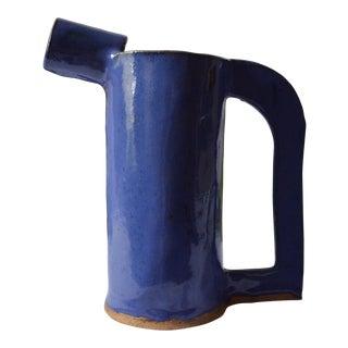 Bauhaus Inspired Matisse Blue Vase