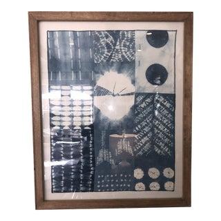 Boho Chic Framed Linen Batik Art For Sale