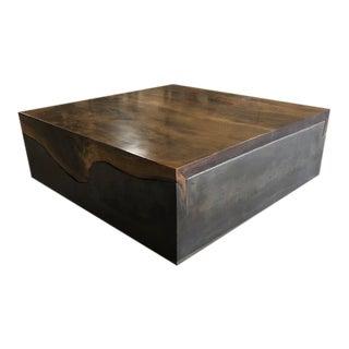 Organic Modern Folded Live Edge Coffee Table For Sale