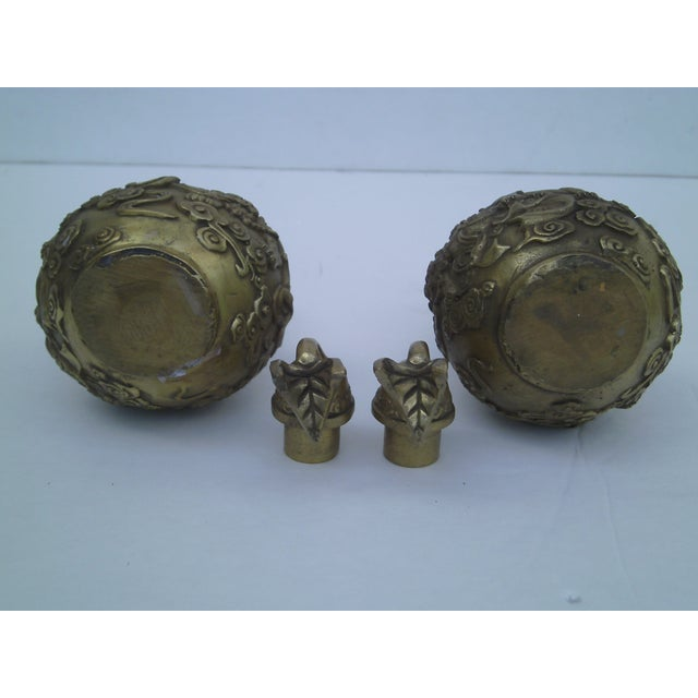 Bronze Covered Jars - A Pair - Image 9 of 10