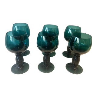 French Green Cordials - Set of 6