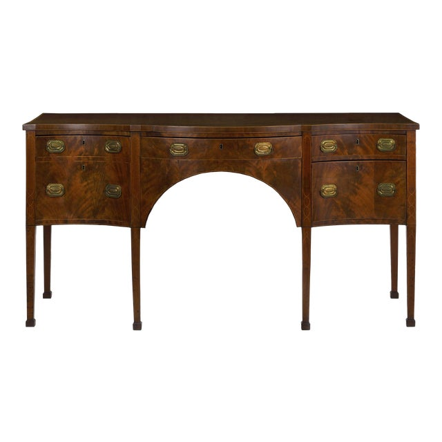 Circa 1780 English George III Period Antique Mahogany Sideboard For Sale