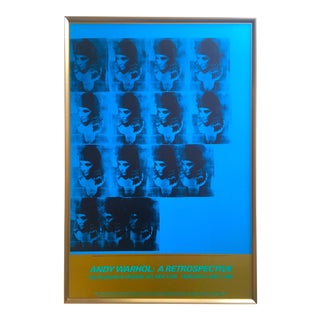"Andy Warhol Estate Rare Vintage 1989 Iconic Moma Exhibition Lithograph Print Large Framed Pop Art Poster "" Blue Liz as Cleopatra "" 1963 For Sale"