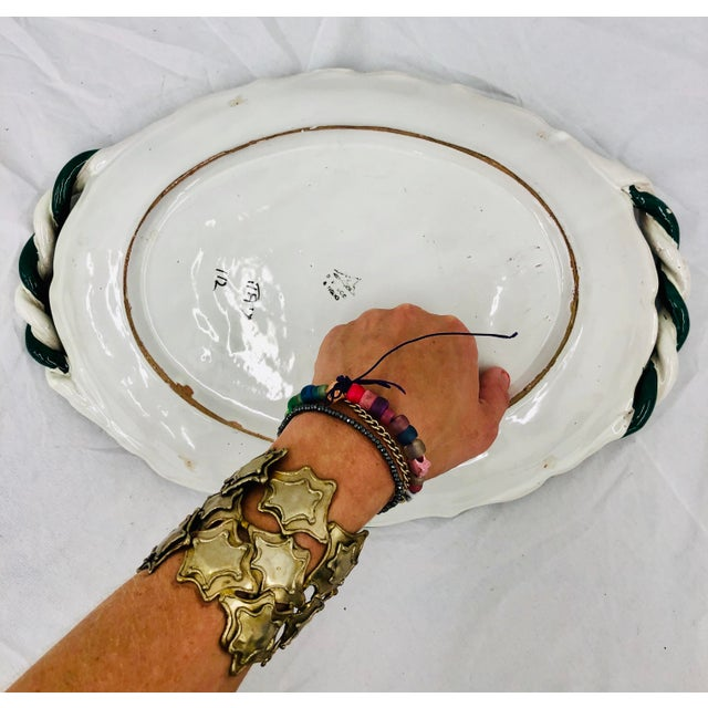 Vintage Hand Crafted Italian Ceramic Serving Platter For Sale - Image 10 of 13