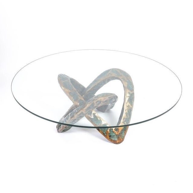 Sculptural Brutalist Mobius Bronze Table, circa 1955 For Sale - Image 6 of 8
