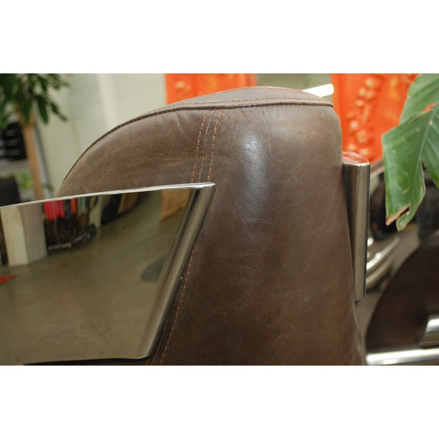 Timothy Oulton Aviator Style Chairs - Pair - Image 3 of 8
