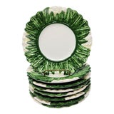 Image of Vintage Made in Italy Cauliflower Salad Plates Set of 8 For Sale