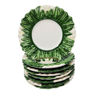Vintage Made in Italy Cauliflower Salad Plates - Set of 8 For Sale