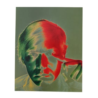 "1989 ""Andy Warhol, 1968"" Portrait by Philippe Halman, From Ed. 91/100 For Sale"