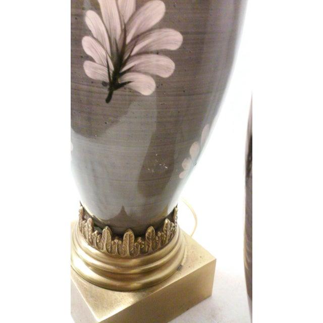 Marbro Ceramic Regency Gray Lamps - A Pair - Image 8 of 11