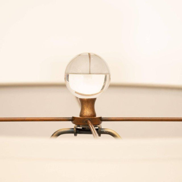 2010s Modern Glass and Brass Floor Lamp For Sale - Image 5 of 7