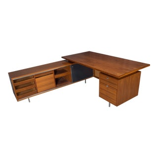 George Nelson for Herman Miller Executive L-Shaped Desk Unit For Sale