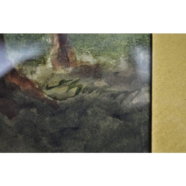 Antique Charles Day Hunt Framed & Signed Landscape Watercolor Painting - Image 4 of 10