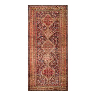 """Antique Persian Ghashgaie Rug 6'6"""" X 14'4"""" For Sale"""