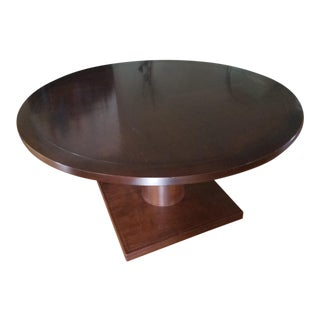Custom Mahogany Hardwood Edge Pedestal Table